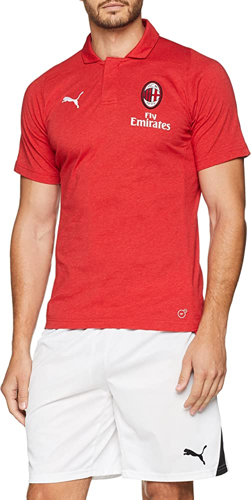 PUMA AC Milan Casual Performance Polo SS with Sponsor Camiseta ...