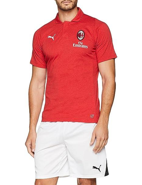 PUMA AC Milan Casual Performance Polo SS with Sponsor Camiseta ...