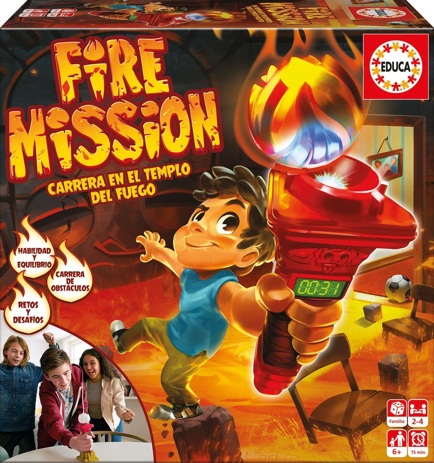 Educa Borrás- Juego de Mesa, Fire Mission (17441): Amazon.es ...