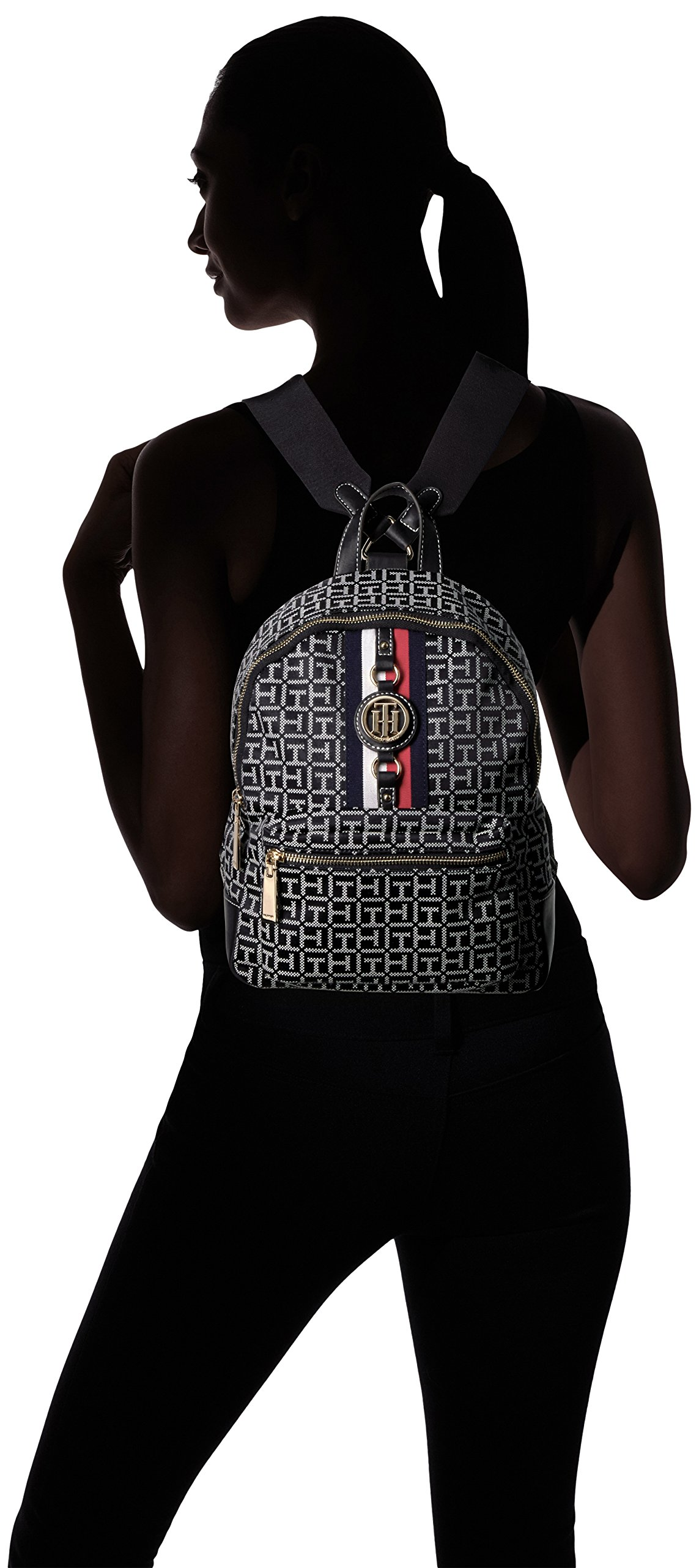 Tommy Hilfiger Women's Backpack Jaden, Black/White by Tommy Hilfiger (Image #4)