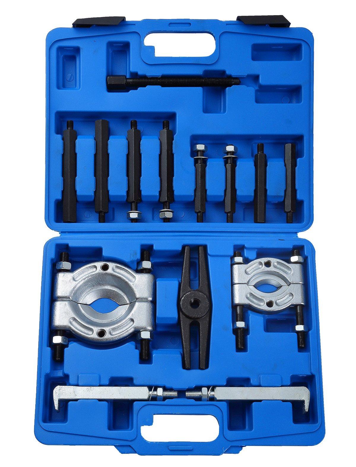 DASBET 14PCS Bearing Separator Puller Set 2'' and 3'' Splitters Remove Bearings Kit, Heavy Duty
