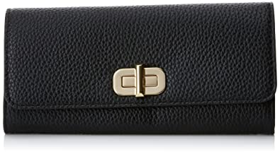 c7bde90b6a39 Image Unavailable. Image not available for. Color: Michael Kors Womens Sullivan  Leather Carryall Clutch Wallet Black ...