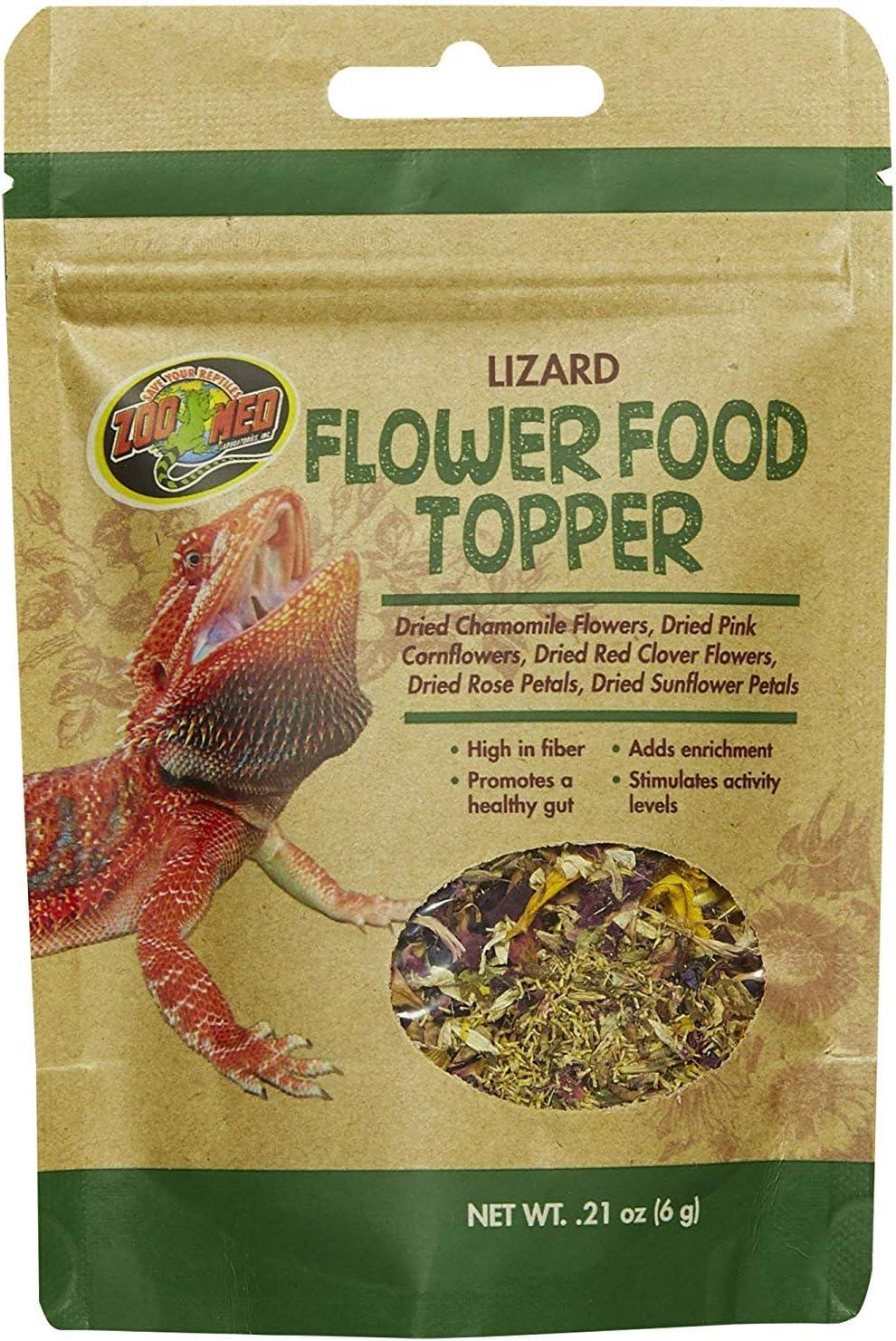 Zoo Med Lizard Flower Food Topper 0.21 oz - Pack of 2