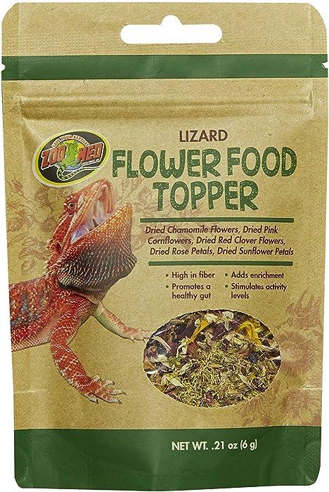Zoo Med Lizard Flower Food Topper 0.21 oz - Pack of 6