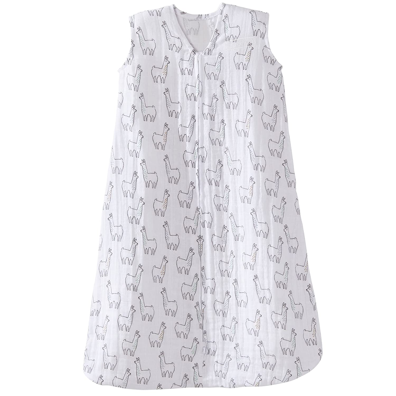 Halo 100% Cotton Muslin Sleepsack Wearable Blanket, Llama Print, Large