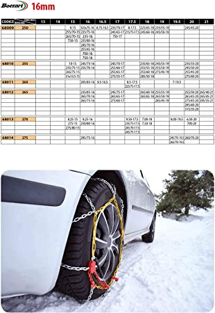 Bottari 68005 Schneeketten Master 16 Mm Größe 240 Önorm Für Suvs Busse Transporter Und Wohnmobile Auto