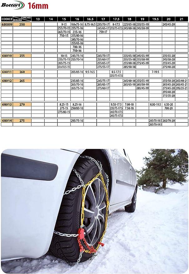Melchioni Cadenas de nieve para furgonetas medida 265//60 R18 Homologadas.