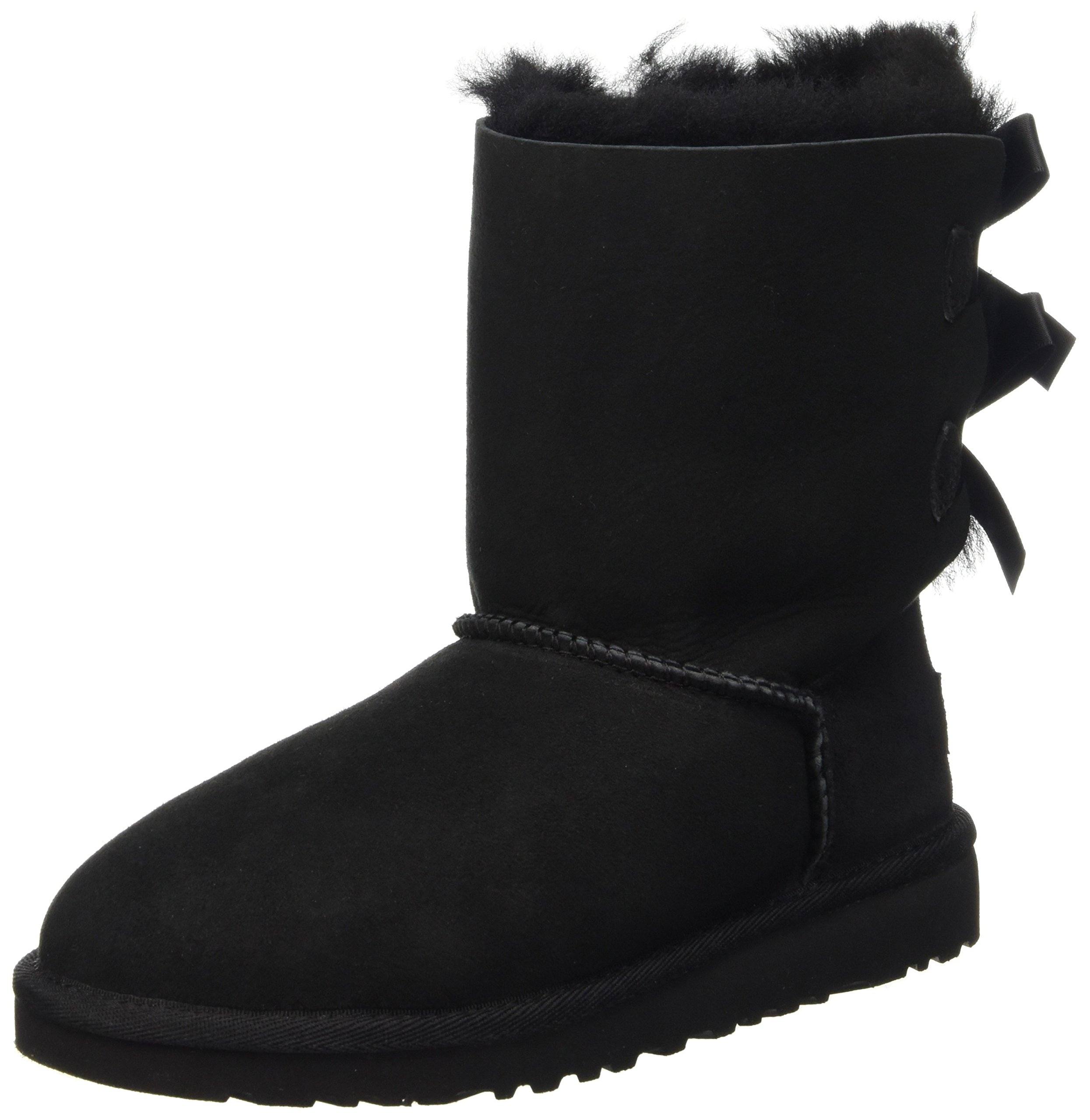 UGG Kids Bailey Bow Girls Shoes - Black size 13