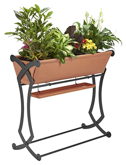 DESIGN SPECIALTIES Raised Garden Bed Trough Planter - Great for Patio on raised tree planter, raised box planter, raised rectangle planter, raised bamboo planter,