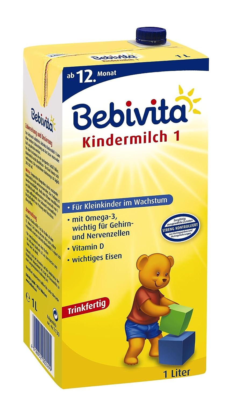 Bebivita Kindermilch, 1 l trinkfertig, ab dem 12 Monat, 6er Pack (6 x 1 l) 1130 Babynahrung