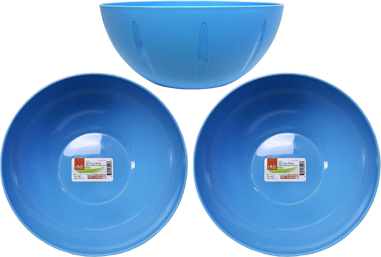 Farberware 5216128 Professional Plastic Mixing Bowls Set of 3 Orange//Red//LightGreen