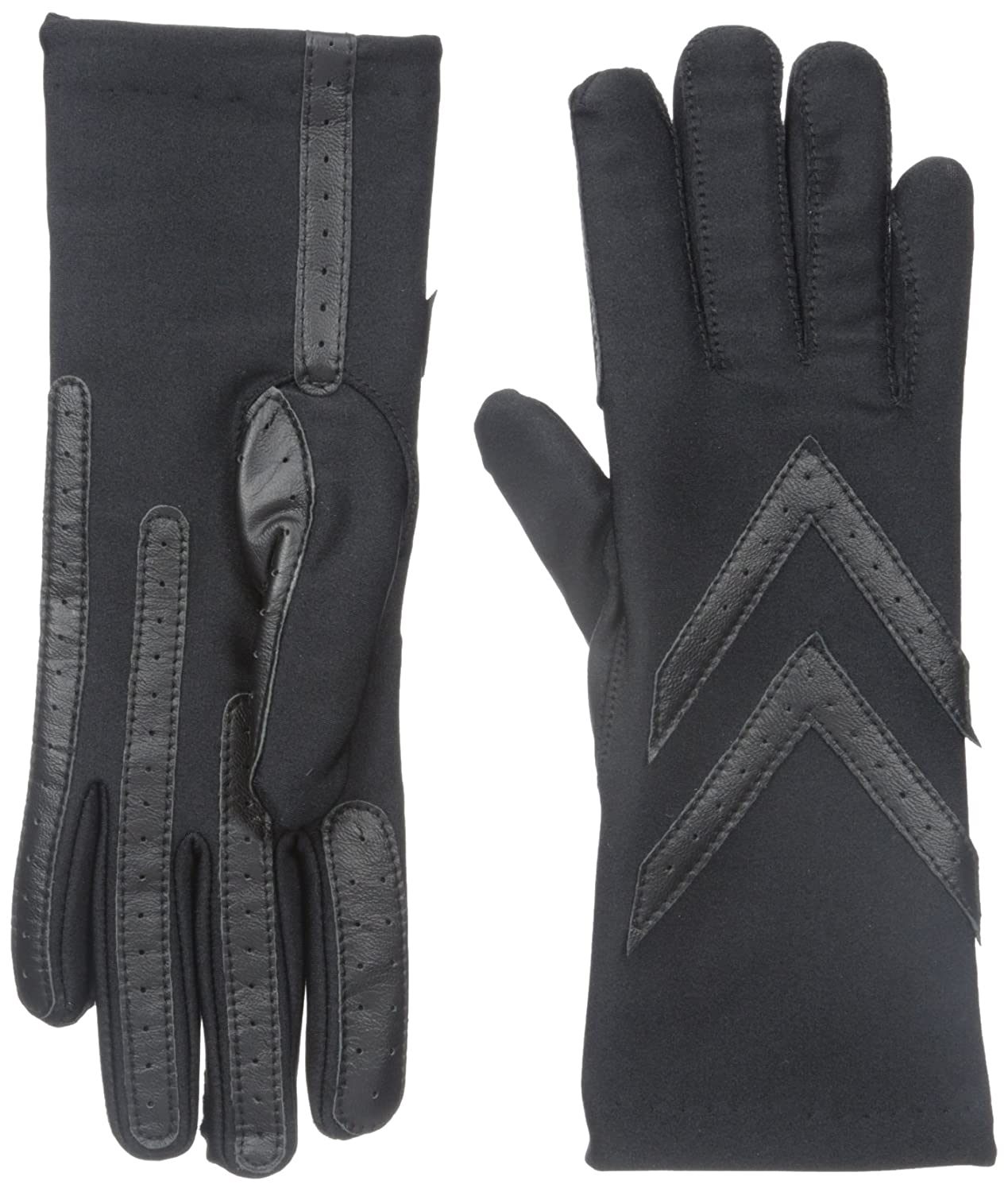 Leather driving gloves vancouver - Isotoner Women S Classic Stretch Warmer Lining Glove Black One Size Amazon Ca Clothing Accessories