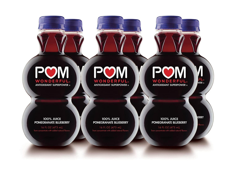 POM Wonderful Pomegranate Blueberry, 100% Juice, 16-Ounce, 6 Count