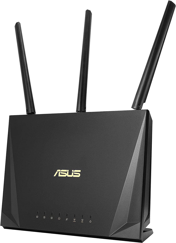 ASUS RT-AC85P Router para trabajar desde casa (WiFi 5 AC2400 MU-MIMO, 4x Gigabit LAN, App, USB 3.1, IPv6, VPN, PPTP, QoS, OpenVPN)