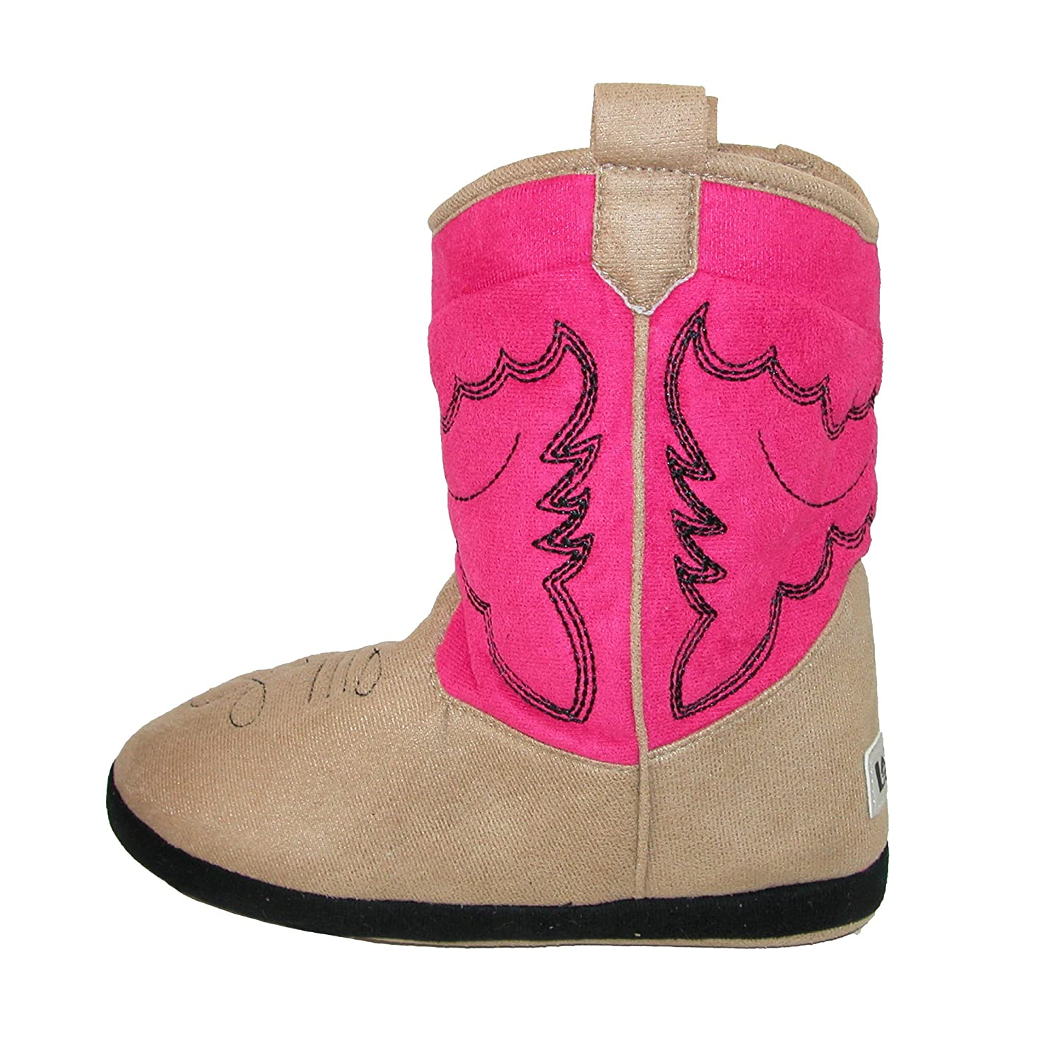 LazyOne Unisex Rosa Cowboy Bootie Slippers