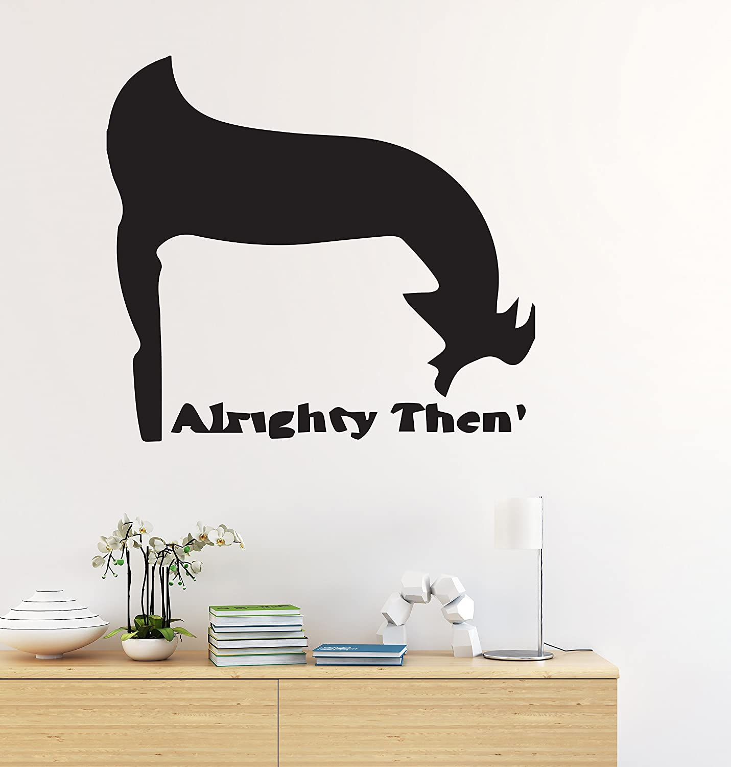 Ace ventura wall decal pet detective alrighty then vinyl sticker zany private investigator bedroom living any room home decoration cg305 30 width x