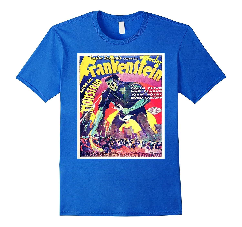 Frankenstein Movie Poster Shirt - Vintage Horror Movie Shirt-Rose