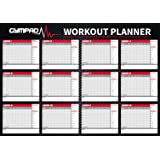 GymPad 12 Week Fitness Workout Planner - Premium Quality A2 Wall Chart Poster