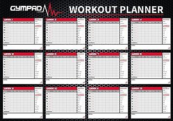 GymPad Unisex 12 Semana Planificador de Entrenamiento de Fitness, Negro, A2: Amazon.es: Deportes y aire libre