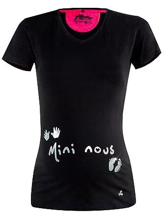 df5bb27f547 titoon® - Tee Shirt de Grossesse - Mini Nous - Noir  Amazon.fr  Vêtements  et accessoires