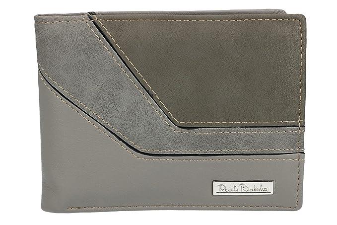 Cartera hombre RENATO BALESTRA gris en cuero con solapa y monedero VA2295: Amazon.es: Ropa y accesorios