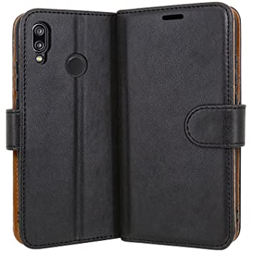 sneakers for cheap ab6c1 de624 Case Collection Premium Leather Folio Cover for Huawei P20 Lite Case  Magnetic Closure Full Protection Book Design Wallet Flip with [Card Slots]  and ...