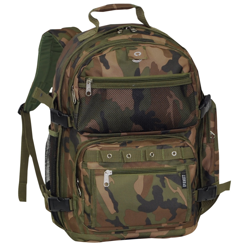 Everest Oversize Woodland Camo Backpack, Camouflage, One Size EVFDS C3045R-CAMO
