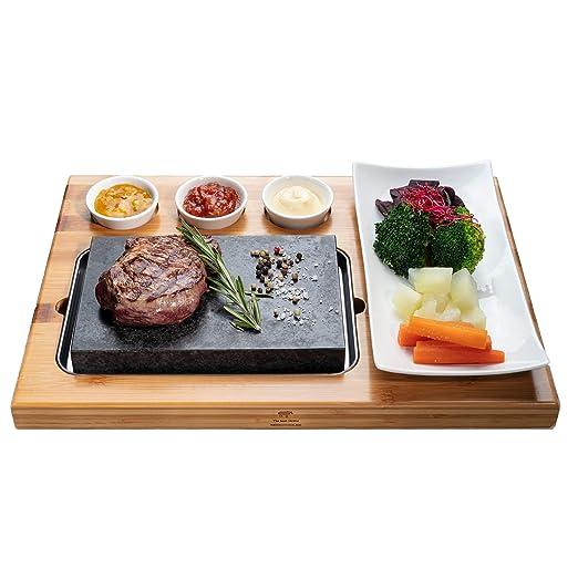 Beefstone - Plancha de piedra volcánica para carne, piedra ...