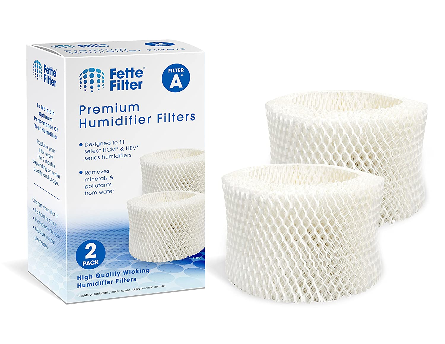 Fette Filter - Humidifier Wicking Filters Compatible with Honeywell HAC-504AW, Filter A (2-Pack)