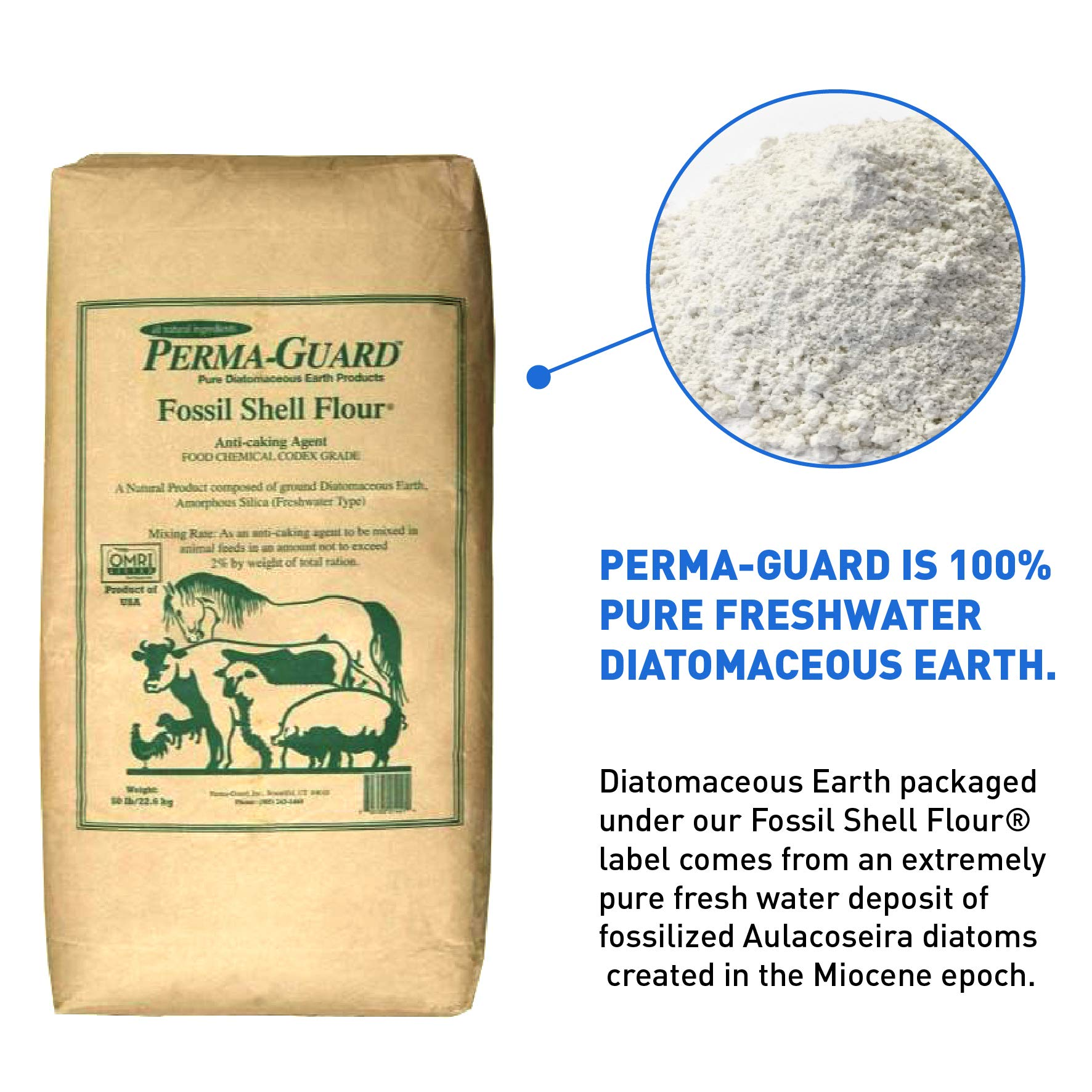 Perma Guard EGP-DE-50C erma Guard Diatomaceous Earth-DE Food Grade, 50 lb, White by Perma-Guard (Image #2)