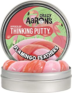 """product image for Crazy Aaron's Thinking Putty 4"""" Tin - Flamingo Feathers Hypercolor - Color Changing Putty, Soft Texture - Never Dries Out"""
