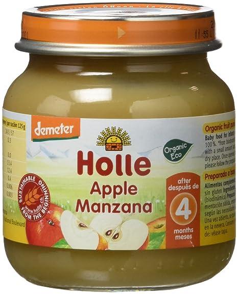 Holle Potito de Manzana 100% (+4 meses) - Paquete de 6 x