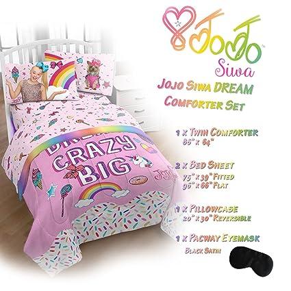 Amazon Com Jojo Siwa Bedding Dream Comforter Bed Sheets Twin Size
