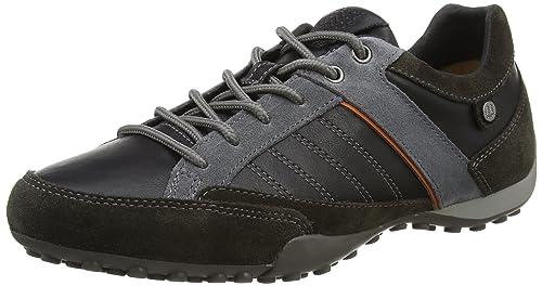 06a72a8a GeoxU Snake B - Zapatillas Hombre: Geox: Amazon.es: Zapatos y complementos