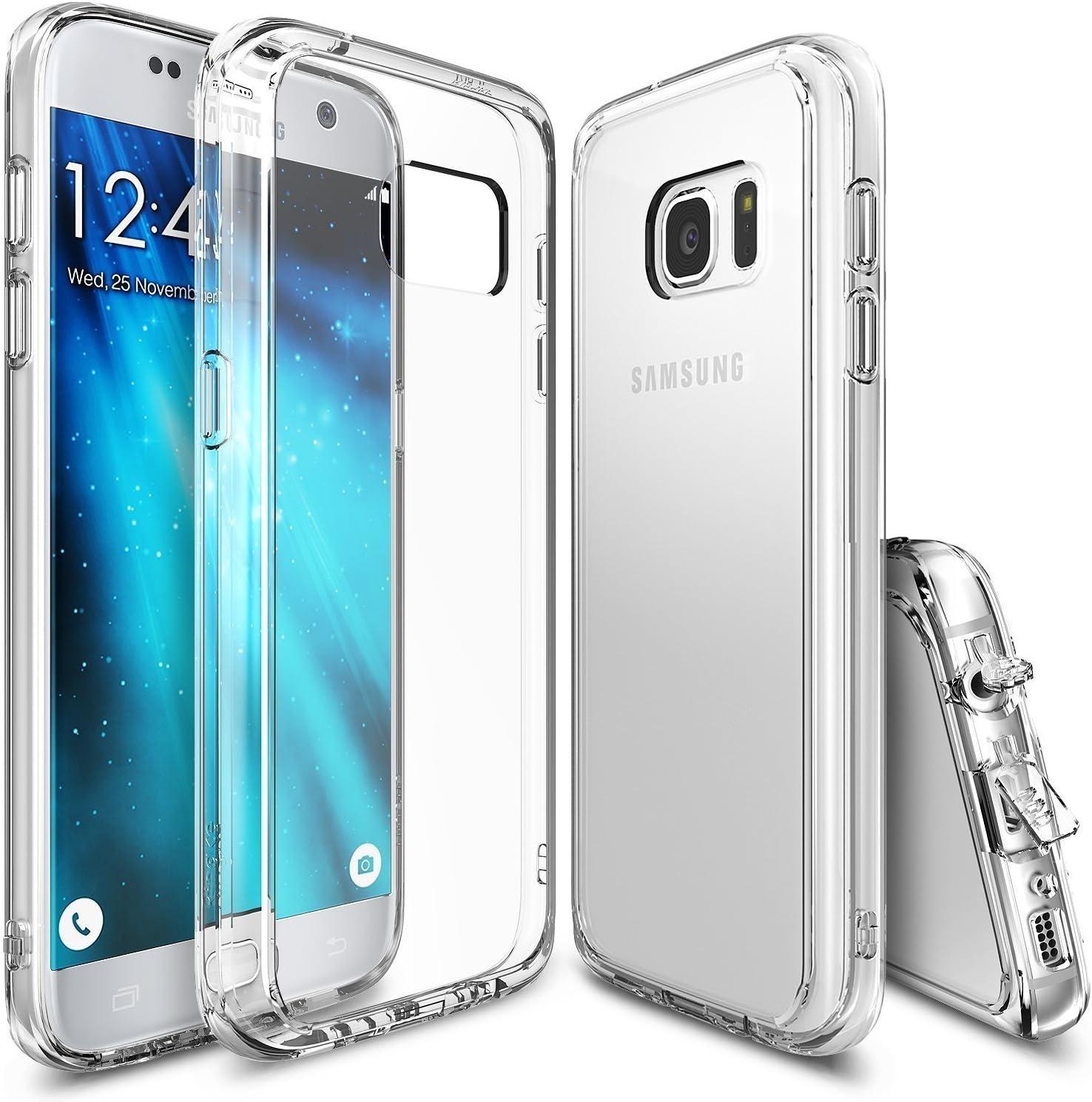 Ringke Funda Galaxy S7, [Fusion] Choque Absorción TPU Parachoques [Choque Tecnología Absorción][Conviviente tapón Antipolvo] para Samsung Galaxy S7 - Clear: Amazon.es: Informática