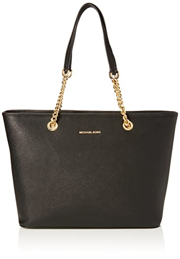Amazon.com: MICHAEL Michael Kors Jet Set Chain Tote Bag Black One ...