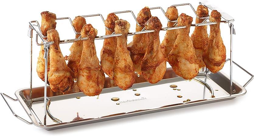 Chicken-Wings Grill-Halter Ständer BBQ Smoker Hähnchen-Griller Hähnchenbräter