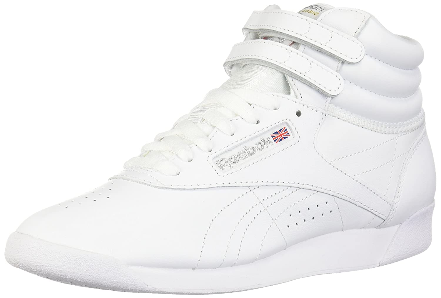 Reebok Women's Freestyle Hi Walking Shoe B0000ANC7J 6.5 B(M) US|White/Silver