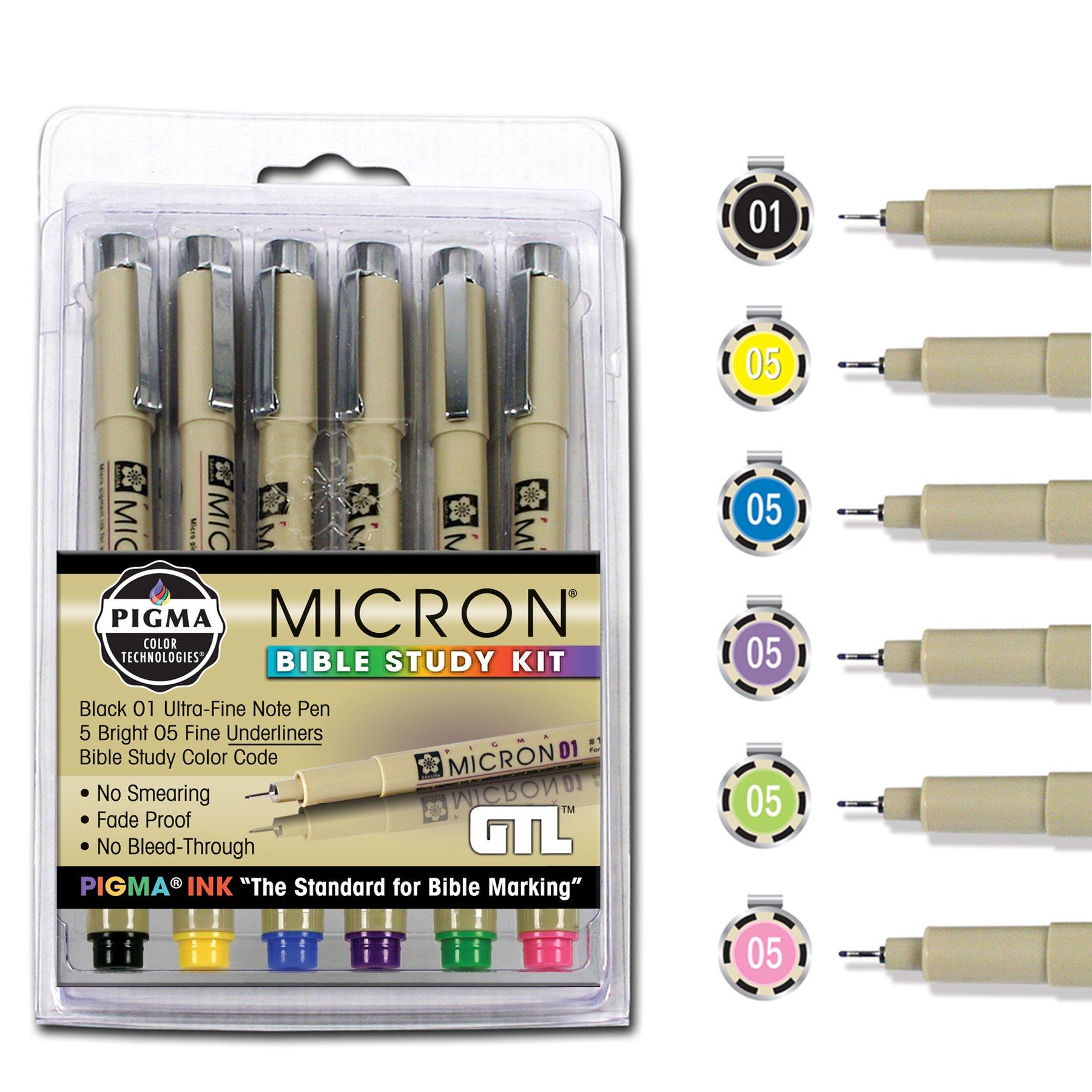 6 x Pigma Micron 01 Fine