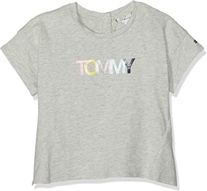 Tommy Hilfiger Bold Text Grown on S//S Tee T-Shirt B/éb/é Fille