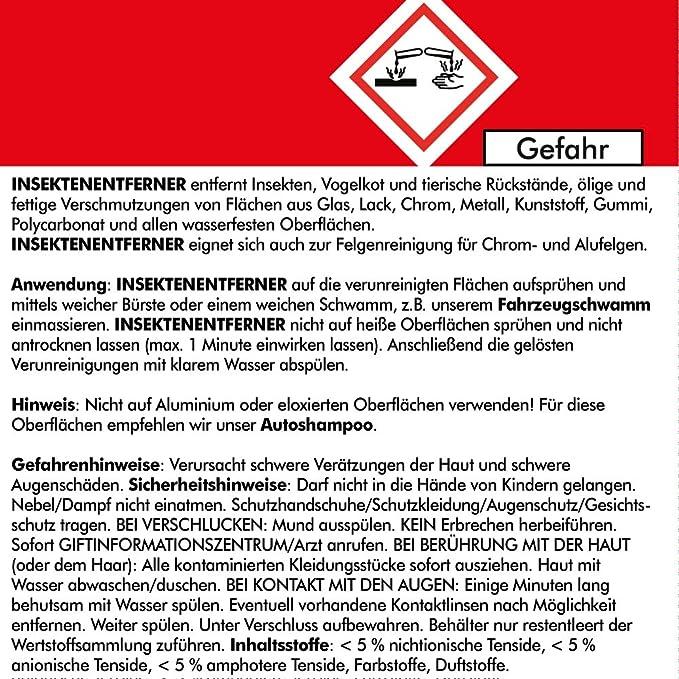 Brestol Insektenentferner 2x 750 Ml Gebrauchsfertig Insektenlöser Polycarbonat Geeigneter Insektenreiniger Vogelkotentferner Spezialreiniger Alkalisch Auto