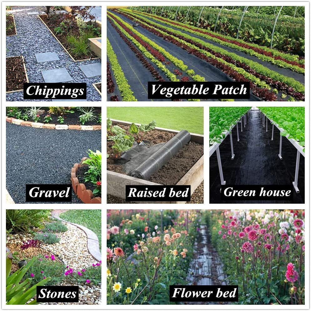 ALTRUISTIC Weed Barrier Landscape Control Fabric Ground Cover Garden Weed Block Nonwoven Heavy Duty Landscaping 3FTX300FT