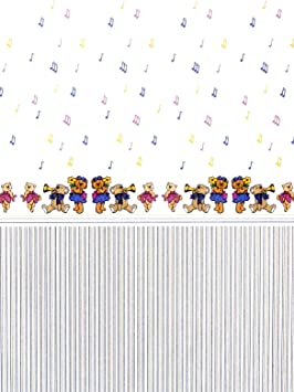 Puppenhaus Musical Teddybären Miniatur 1:12 Kinderzimmer Tapete 3 Blätter