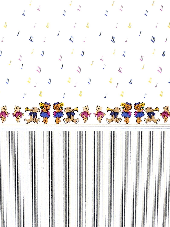MELODY Jane Casa De Mu/ñecas Musical Ositos de peluche miniatura DIBUJO 1:12 Escala infantil Papel Pintado