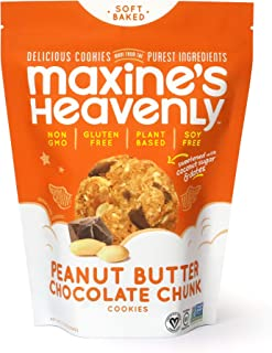 product image for Maxine's Heavenly - Plant Based, Gluten Free, Low Sugar - Peanut Butter Chocolate Chunk Cookies (1 Pack)
