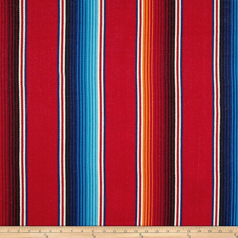 Laura & Kiran Southwest Stripes Fiesta Stripe Basketweave Red Multi