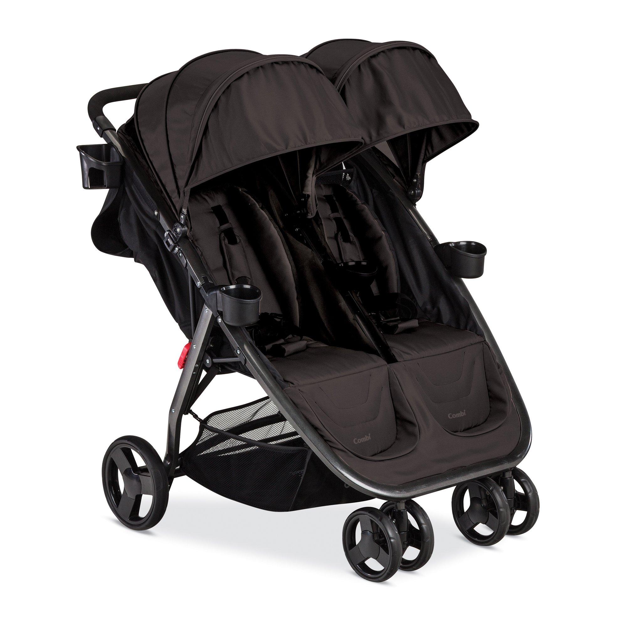 Combi Fold N Go Double Stroller, Black by Combi