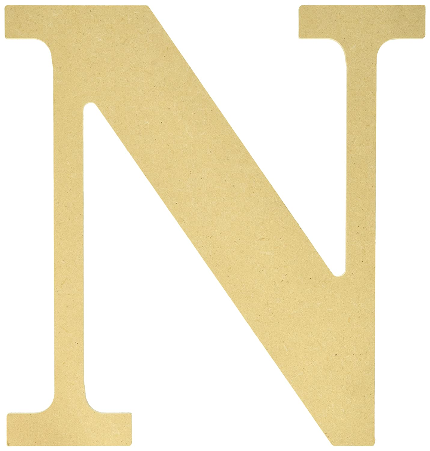 MPI MDF Classic Font Wood Letters and Numbers, 9.5-Inch, Letter-N MDF9-L414