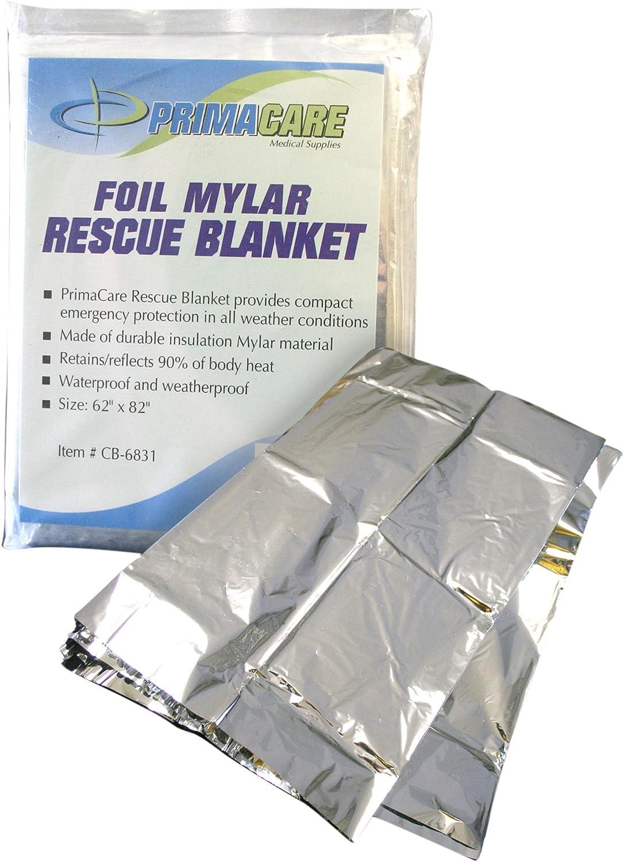 Primacare CB-6841-CS Emergency Foil Mylar Thermal Blanket, 82