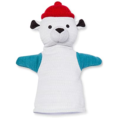Pillowfort - POLAR BEAR HAND PUPPET (8.5 in x 11 in) - Have a Blast with this Fun Polyester Puppet: Toys & Games